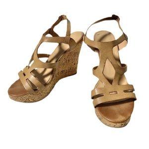 Xappeal Nude Sandal Wedge Heels